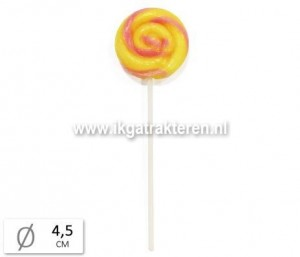 Snoep: Lolly Rond Banana Strawberry Groot