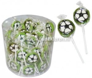 Voetbal lolly