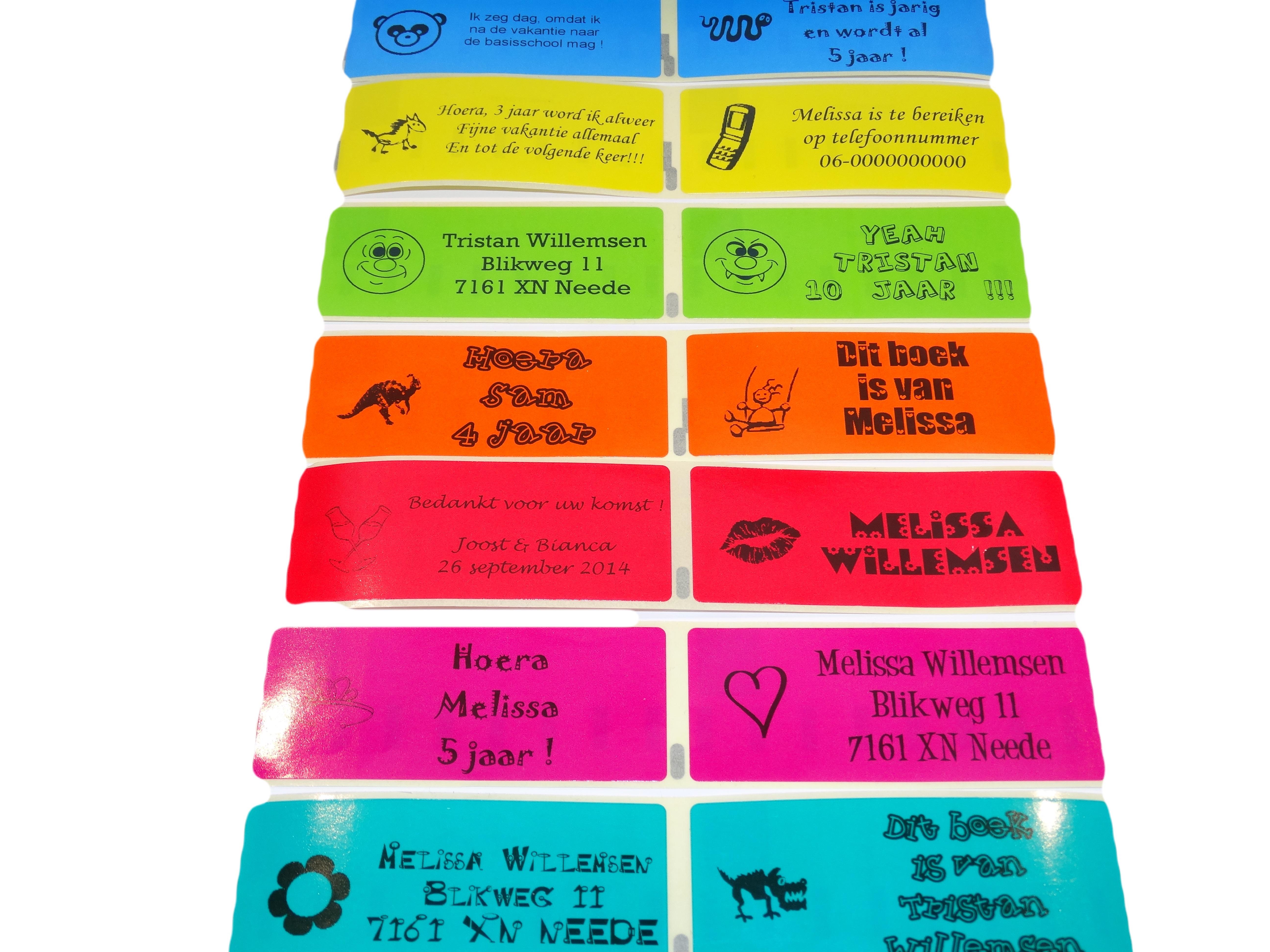 Tekst Stickers Goedkoop.10 Gepersonaliseerde Gekleurde Stickers Traktatie Nodig Goedkoop