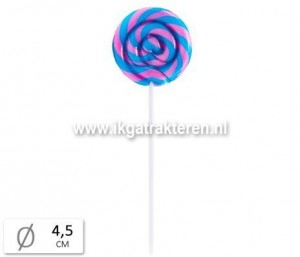 Snoep: Lolly Rond Bubblegum Groot